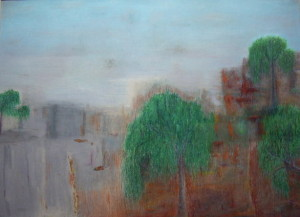 1.Stephen Twohig '03 Oil Pastel on paper  framed 72x 88